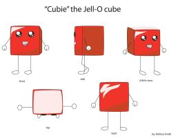 cubie the jell-o cube by electricjesuscorpse