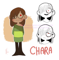 UNDERTALE - ChArA - by BloodyArchimedes