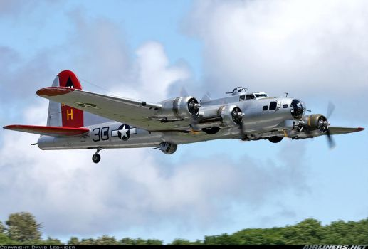 B-17 flying fortress aluminum overcast by warfighterzack77