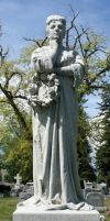 Mount Olivet Cemetery Woman 176 by Falln-Stock