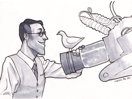 medic has too many birds GOD by Doodle-Master