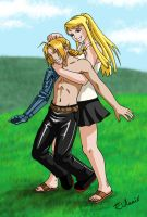 Ed and Winry by Eldanis