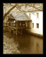 Mill in centret of Prague by Platonov