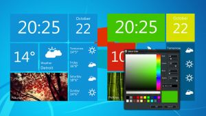 Windows Metro Style Weather Widget for xwidget by jimking