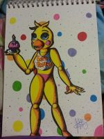Fnaf 2 Toy Chica -first attempt- by KhyberFanGirl101