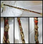 Steampunk Dragon Cane by Namingway