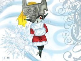 :: midna...as a cute lil santa by yamichan