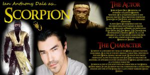 Character / Actor Profile: Scorpion / Ian Anthony by RedVirtuoso