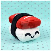 Tuna Nigiri Sushi Plush by SewDesuNe