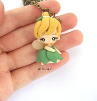 Tinkerbell necklace by elvira-creations