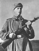 Soviet Soldier holding a PPSH-41 by ShitAllOverHumanity