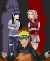 NaruHina vs NaruSaku colored by yasmira