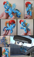MLP Custom Flying Wonderbolts Rainbow Dash by tallydragon