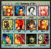 2012 Art Summary by RetkiKosmos