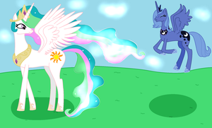 Princess Celestia and Princess Luna by RandomThingsILike