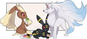 Lopunny + Company by MBPanther