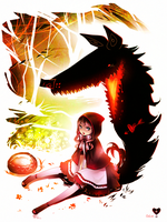 Red Riding Hood and Love-struck Wolf by Expie-OC