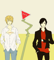 Durarara - shizuo and izaya by cloudymusic