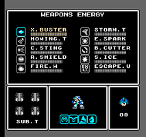 RMX weapons menu 8 bits style by OptimusConvoy
