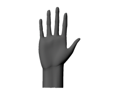 Maya Hand model by LucyNickBakura