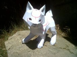 papercraft_chibiterasu by Dragoon-girl