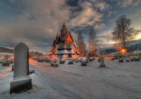 Heddal stave-church by HansHaram