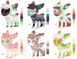 Creepy Mask Creatures Adopt Batch - CLOSED by Adorabubble-Adopts
