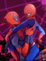 Deadpool/spidey by erodayu