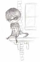 Chibi Robin: Young Justice by Nashiil