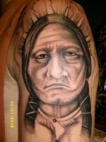 indian portrait close up by TatuajesMiguel