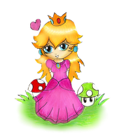 Chibi Princess Peach by Jrynkows