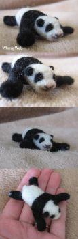 Needle felted Baby Panda Bear by WhimsyWeb