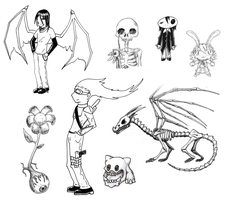 Old Sketches by TxusMetal4ever