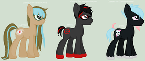 Custom Ponies by HopeForTheFuture13