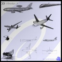 plane brushes by artist00