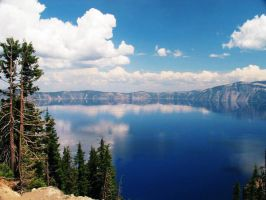 A Summertime Crater Lake by GoshinkiPickle