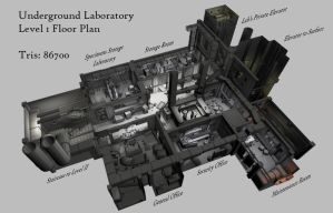 Underground Laboratory Level 1 by shadowofamn