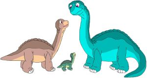Littlefoot, Skitter and Susie by MCsaurus