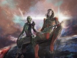[Mass Effect] Khys and Dzeko by Jeanne24