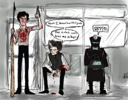Sherlock on the Tube by naydshiko