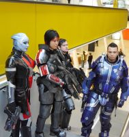 Mass Effect group shot 3 MCM Oct '12 by KaniKaniza