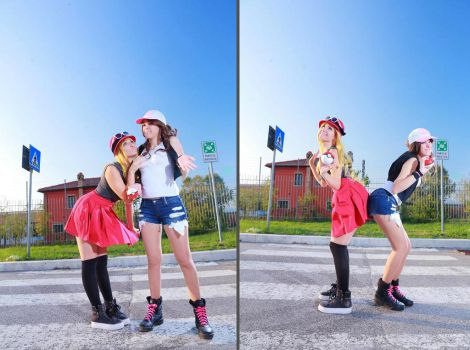 Serena and Touko by Daisy-Cos