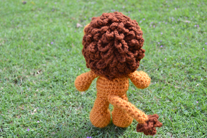 Griffin, the Lion Amigurumi (Back view) by MiaHandcrafter