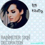 Bill Kaulitz Rainmeter Skin by monzedkltz