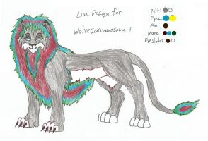 Lion Design for Wolvesareawesome14 by DudeWheresMyLion