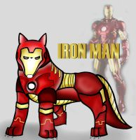 Iron Man - Wolf Form by SaoryEmanoelle