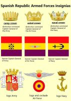 Spanish Republic Armed Forces insignias and logos by dlink97