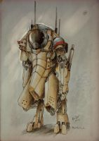 robot cosmonaut by no-life94