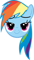 Rainbow Dash Happy Head by MoongazePonies