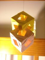 Origami Modular Cube Joined by AvatarIcarus